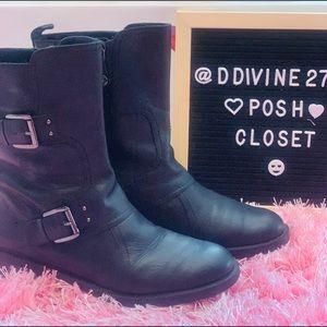 Enzo Angiolini Black leather Boots Size 8.5